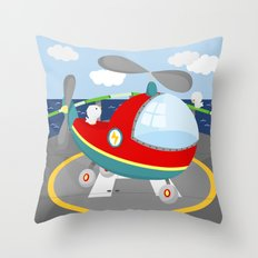 HELICOPTER (AERIAL VEHICLES) Throw Pillow