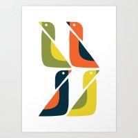 Duck Duck Art Print