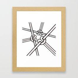 knots tied Framed Art Print