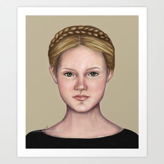 Blonde maiden Art Print
