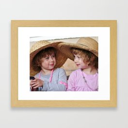 Girls Talks Framed Art Print