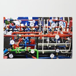 Piping with manometers for industry Rug