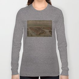 Vintage Pictorial Map of New York City (1874) Long Sleeve T-shirt