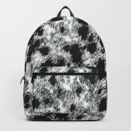 Black and White Western Cowhide Pattern (digitally created, ix 2021) Backpack