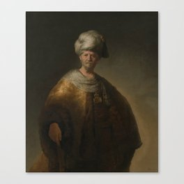 "Rembrandt Harmenszoon van Rijn, ""Man in oriental costume"", 1632 Canvas Print"