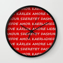 Love International Wall Clock