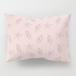 Pattern design with geometric shapes of stars and gem stones Pillow Sham