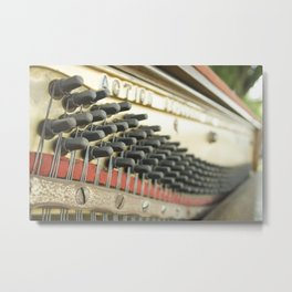 On Key Abandoned Piano Urbex, Urban Exploration, Music, Musical, Instrument Metal Print