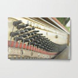 On Key Abandoned Piano Urbex, Urban Exploration, Music, Musical, Instrument Metal Print