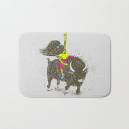 Ride a buffalo Bath Mat