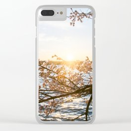 Sun Over the Horizon Clear iPhone Case