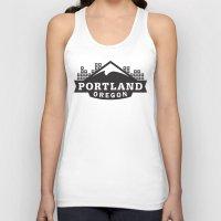 portland Tank Tops featuring Portland Logo by Corey Price