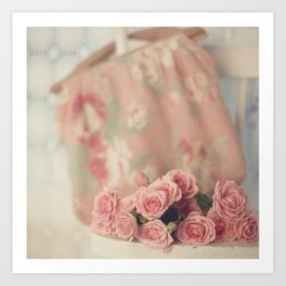 Yesterday's Roses Art Print