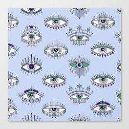 evil eye pattern Canvas Print