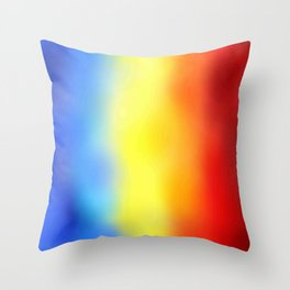 Flag of romania 7 - with cloudy colors Throw Pillow