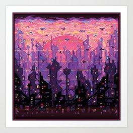 Сity of Neon Lights Art Print