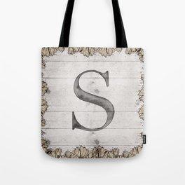 Neutral Monogram S Tote Bag