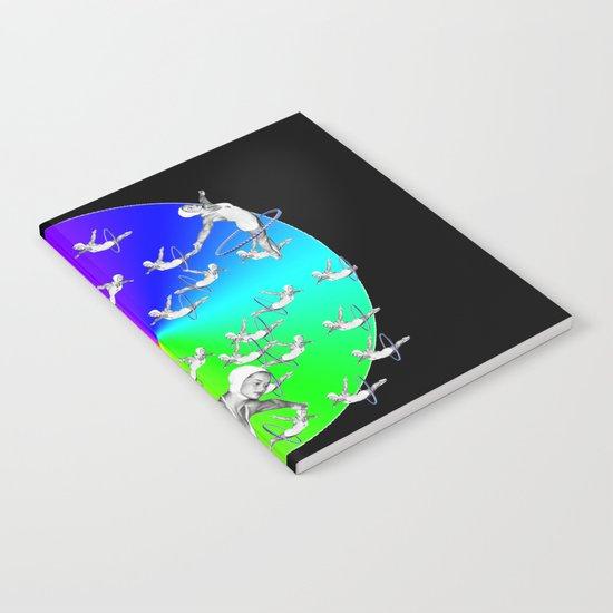 Synchronised Rainbow Hoop Divers Notebook