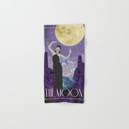 The Moon Tarot Hand & Bath Towel