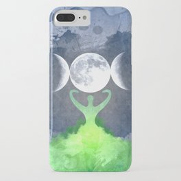 Mother Earth Goddess Moon iPhone Case