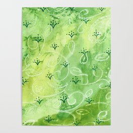 India vibe light green Poster