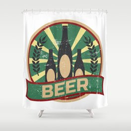 Beer Propaganda   Brew Brewery Brewer Shower Curtain