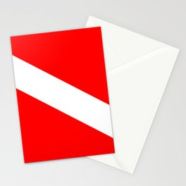 Diver Down Flag Stationery Cards