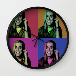 Piper Chapman Pop Art  Wall Clock