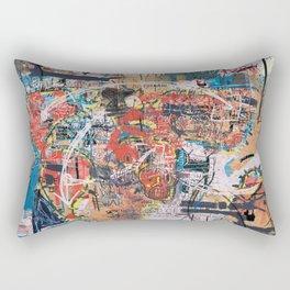 World Mapsqiuat Rectangular Pillow
