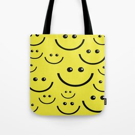 SMILEY FACE Abstract Art Tote Bag