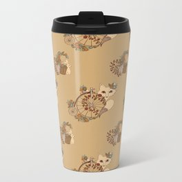 Fox and Bicycle Metal Travel Mug