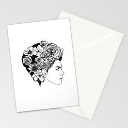 "PHOENIX AND THE FLOWER GIRL ""REFLECTION"" PLAIN PRINT Stationery Cards"