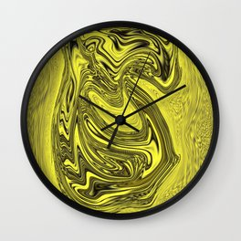 Flowing Liquid Gold Wall Clock