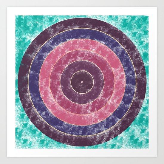 Circles Abstract Art Print