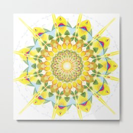 Divine Creation Mandala Metal Print