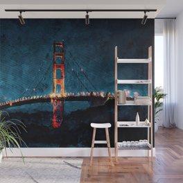 Digital Painting - San Francisco Bridge Wall Mural