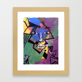 Face Me Framed Art Print