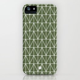 CHEVRON TRIANGLES - OLIVE iPhone Case
