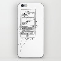 text iPhone & iPod Skins featuring Text by CreatureContours