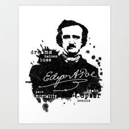 The Brilliant and Dark World of Poe - Edgar Allan Poe Art Print