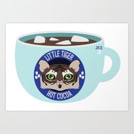Little Tiger Hot Cocoa Art Print