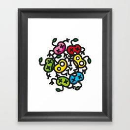 apple color crazy Framed Art Print