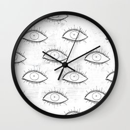 Delirium Pattern (White) Wall Clock