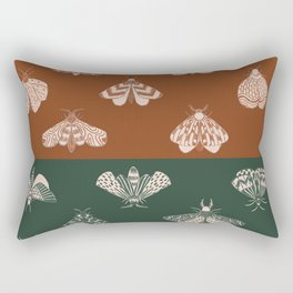 Moth print pattern, retro quirky classic Rectangular Pillow