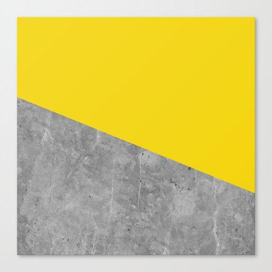 Geometry 101 Vivid Yellow Canvas Print