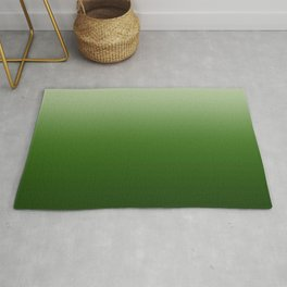 Tropical Green Gradient Rug