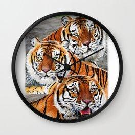 Texas Tiger Trio Wall Clock