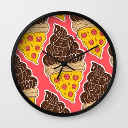 Don't Feed Me Shit and Call it Pizza Wall Clock
