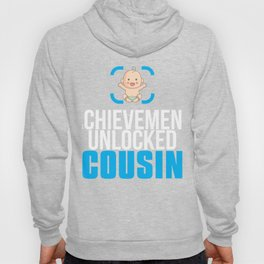 New Cousin Gift Achievement Unlocked Cousin Present for First Time Cousin Hoody