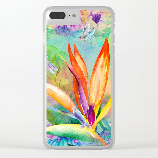 Bird of paradise i Clear iPhone Case